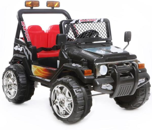 Kids 2 Seater 12v Electric / Battery Ride on Electric Jeep 4x4 Black-7045