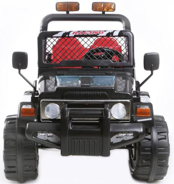 Kids 2 Seater 12v Electric / Battery Ride on Electric Jeep 4x4 Black-7047