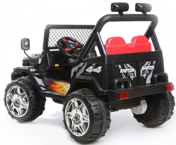 Kids 2 Seater 12v Electric / Battery Ride on Electric Jeep 4x4 Black-7042