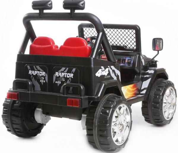 Kids 2 Seater 12v Electric / Battery Ride on Electric Jeep 4x4 Black-7044