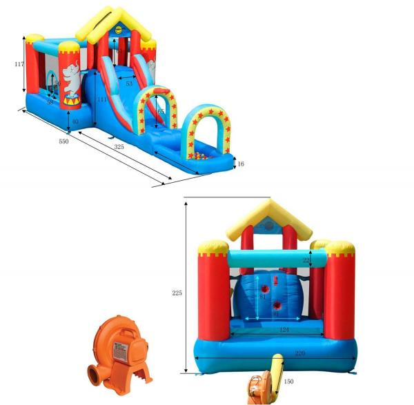 Duplay Happy Hop Inflatable Circus Bouncy Castle Play Centre 9023-6649