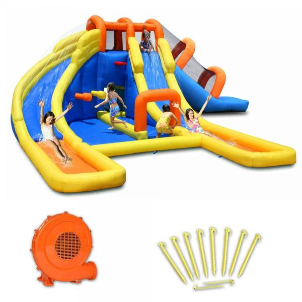 Duplay Happy Hop Inflatable 24ft x 21ft Mini Water Park 9045-6706