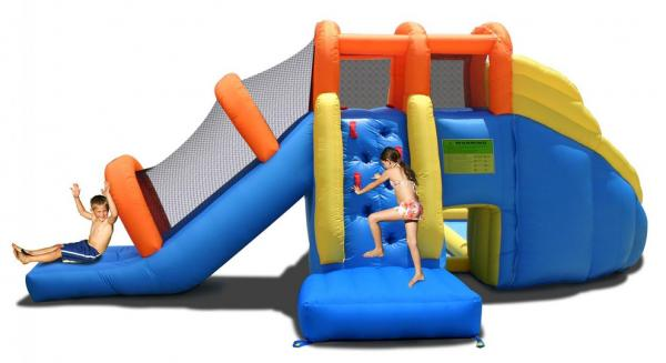 Duplay Happy Hop Inflatable 24ft x 21ft Mini Water Park 9045-6708