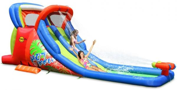Duplay Happy Hop Inflatable Kids 20ft Double Waterslide 9129-6694