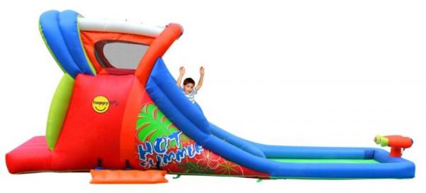 Duplay Happy Hop Inflatable Kids 20ft Double Waterslide 9129-6695