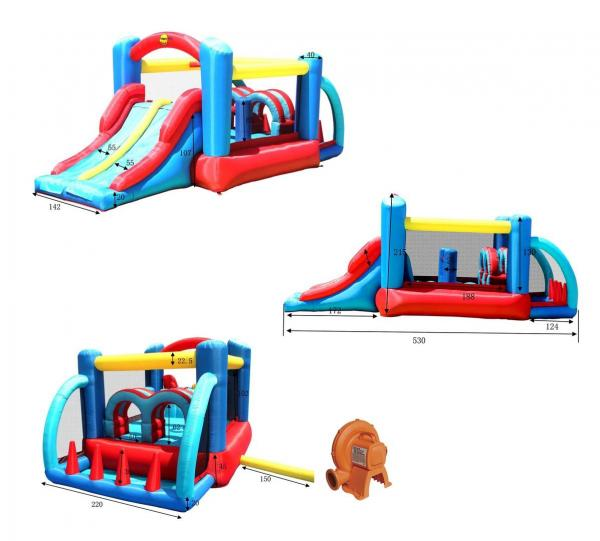 Duplay Happy Hop Inflatable Racing Fun Bouncy Castle 9163-6652