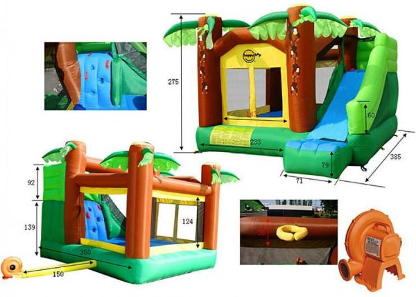 Duplay Happy Hop Inflatable Jungle Climb and Slide Bouncy Castle 9164-6635