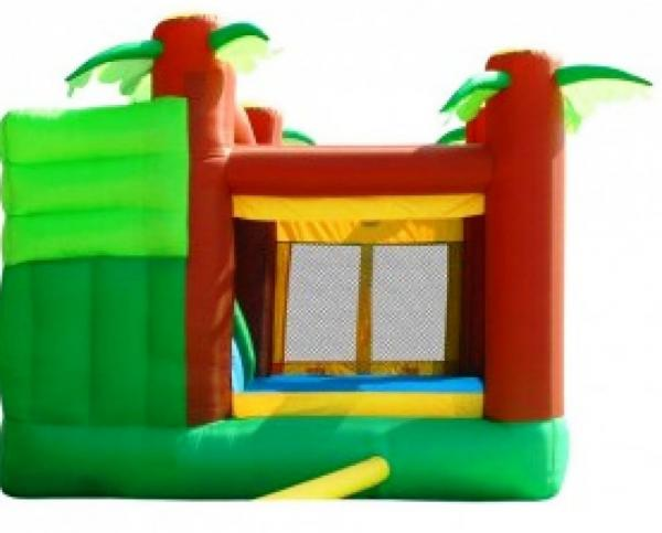 Duplay Happy Hop Inflatable Jungle Climb and Slide Bouncy Castle 9164-6638