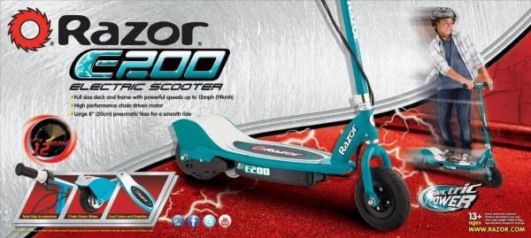 Razor Electric Battery e Scooter E200 Teal-6387