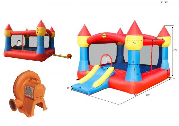 Duplay Happy Hop Inflatable Childrens Super Bouncy Castle with Slide 9217N-6672