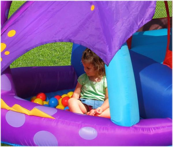 Duplay Happy Hop Inflatable Dragon Quest Bouncy Castle With Slide 9022-6716