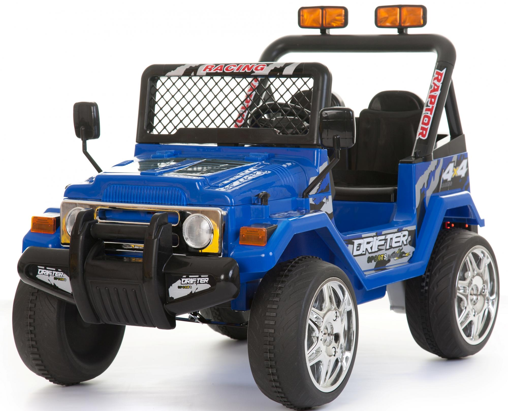 Kids 2 Seater 12v Electric Battery Ride On Electric Jeep 4x4 Blue