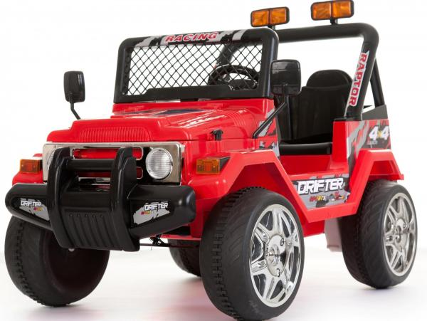 Kids 2 Seater 12v Electric / Battery Ride on Electric Jeep 4x4 Red-0