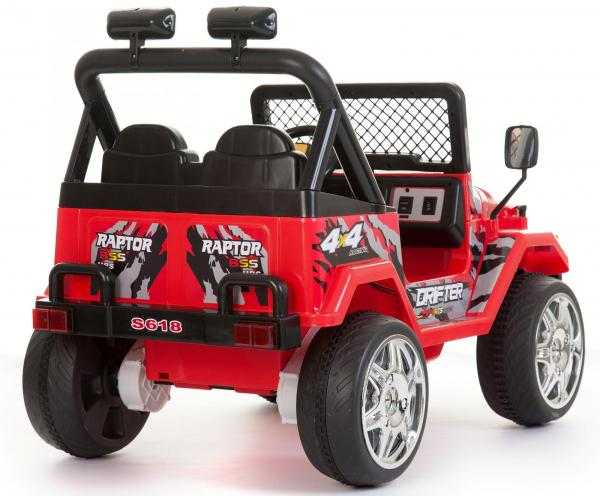 Kids 2 Seater 12v Electric / Battery Ride on Electric Jeep 4x4 Red-7116