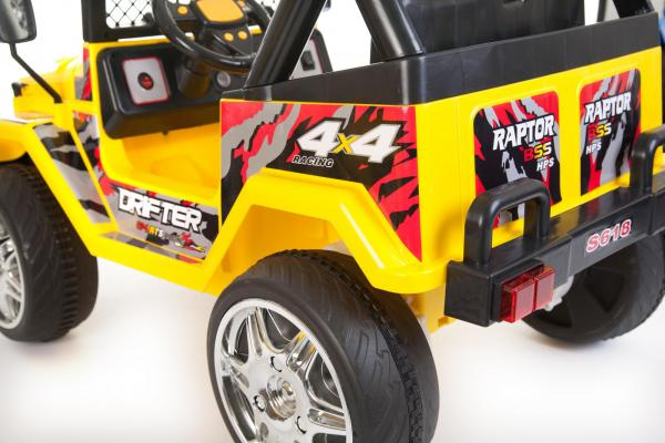 Kids 2 Seater 12v Electric / Battery Ride on Electric Jeep 4x4 Yellow-7066
