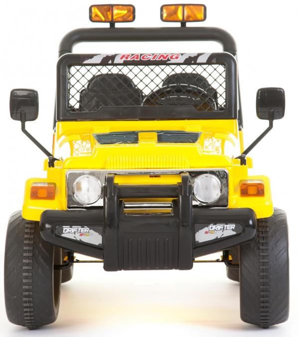 Kids 2 Seater 12v Electric / Battery Ride on Electric Jeep 4x4 Yellow-7072