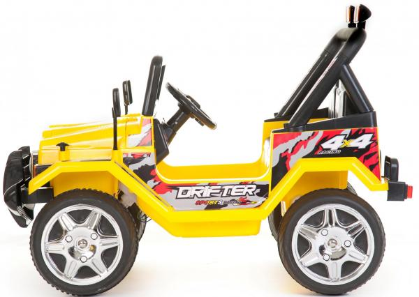 Kids 2 Seater 12v Electric / Battery Ride on Electric Jeep 4x4 Yellow-7064