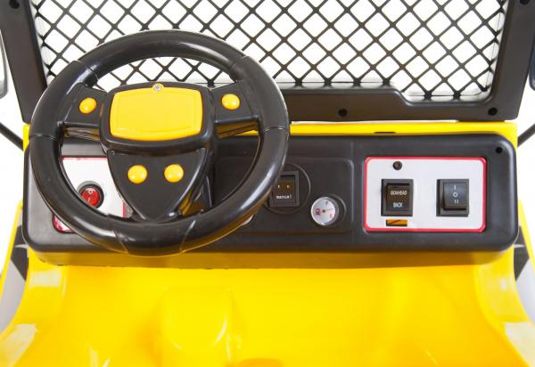 Kids 2 Seater 12v Electric / Battery Ride on Electric Jeep 4x4 Yellow-7065