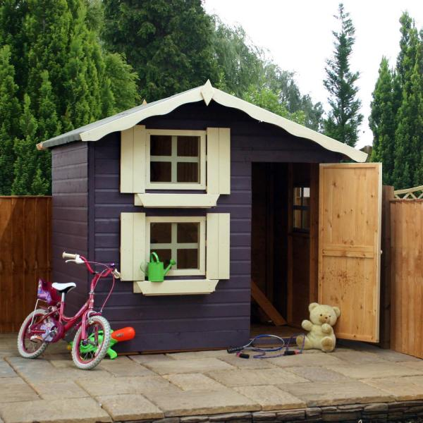 Mercia 7 x5 Double Storey Snowdrop Cottage Wooden Playhouse / Wendy House-7375