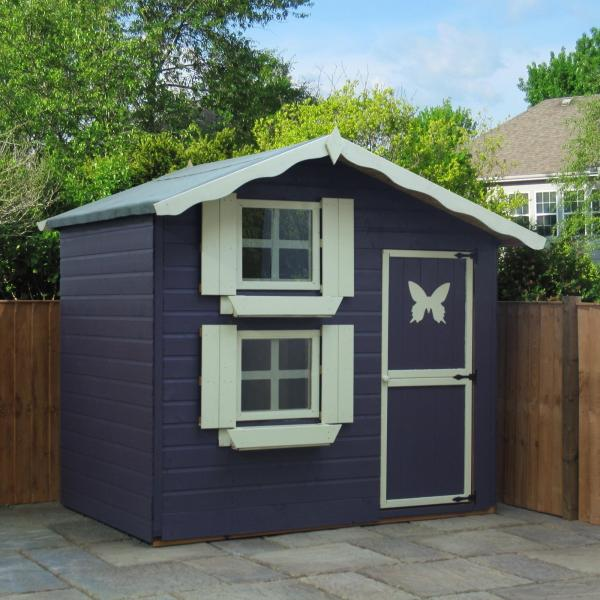 Mercia 7 x5 Double Storey Snowdrop Cottage Wooden Playhouse / Wendy House-7378