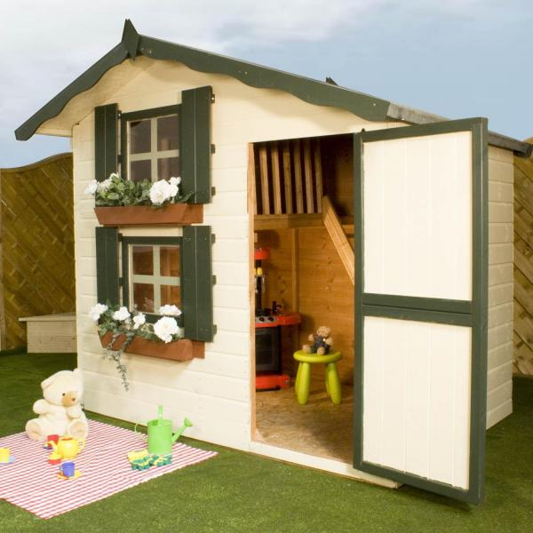 Mercia 7 x5 Double Storey Snowdrop Cottage Wooden Playhouse / Wendy House-0