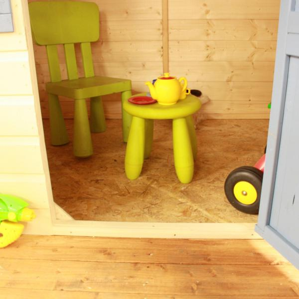 Mercia Honeysuckle Wooden Playhouse / Wendy House with Tower and Slide-7431
