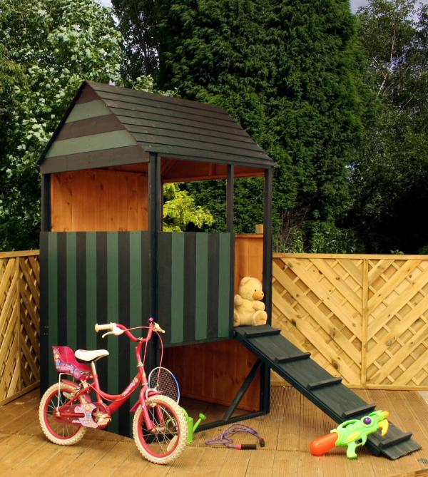 Mercia Lookout Wooden Playhouse / Wendy House-0