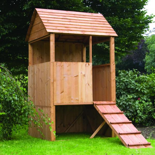 Mercia Lookout Wooden Playhouse / Wendy House-7260
