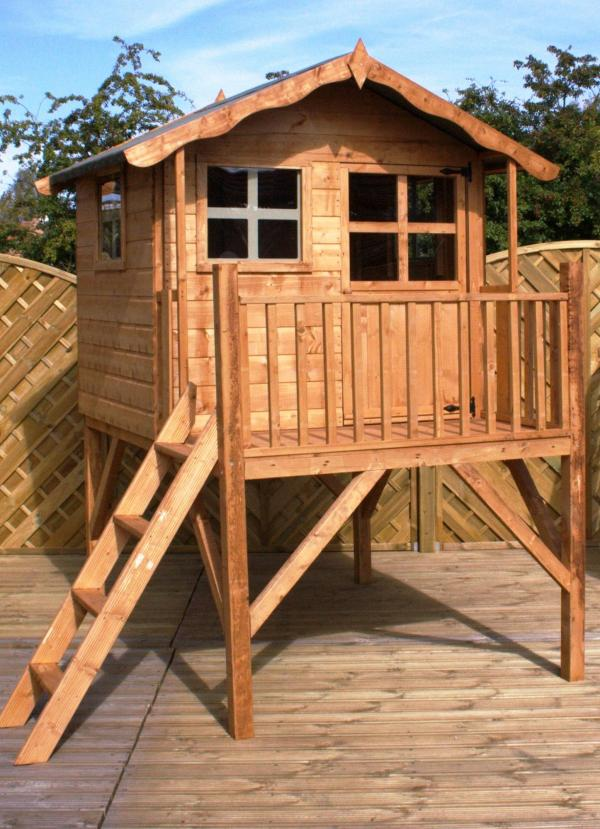 Mercia Poppy Wooden Playhouse / Wendy House with Tower-0