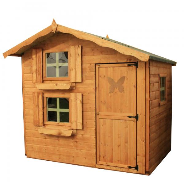 Mercia 7 x5 Double Storey Snowdrop Cottage Wooden Playhouse / Wendy House-7379