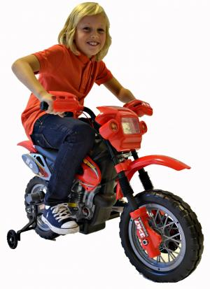 Kids Rocket 6v Electric / Battery KX Motocross Scrambler Dirt bike Ride on Motorbike - RedKids Rocket 6v Electric / Battery KX Motocross Scrambler Dirt bike Ride on Motorbike - Red-0