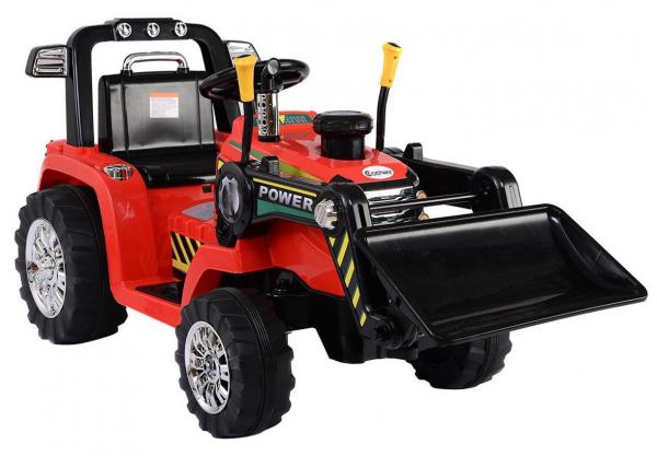 Electric kids ride on tractor - 12v - Red-0