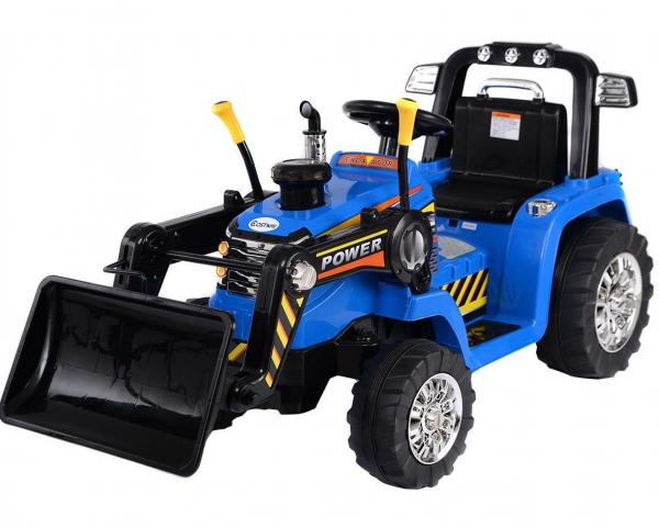 Electric Ride on Tractors - 12v - Blue-0