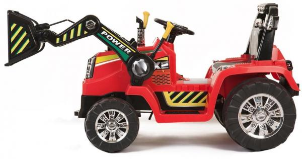 Electric kids ride on tractor - 12v - Red-7611