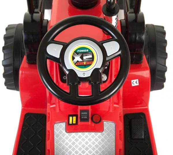 Electric kids ride on tractor - 12v - Red-7615