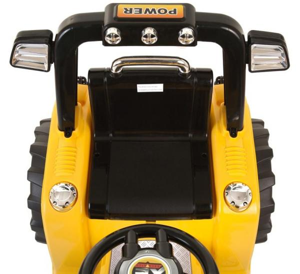 12v Kids Battery Ride on Tractor - Yellow-7687