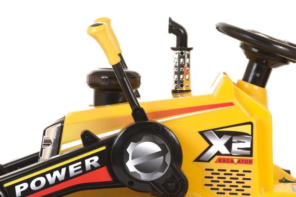 12v Kids Battery Ride on Tractor - Yellow-7685