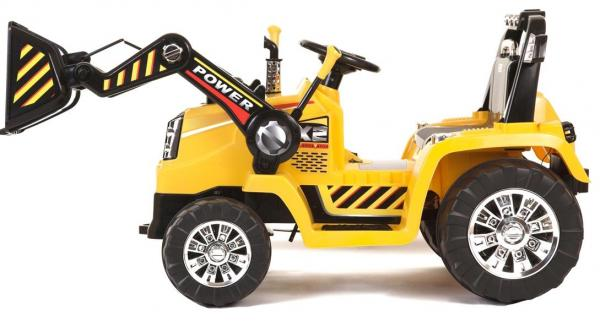 12v Kids Battery Ride on Tractor - Yellow-0