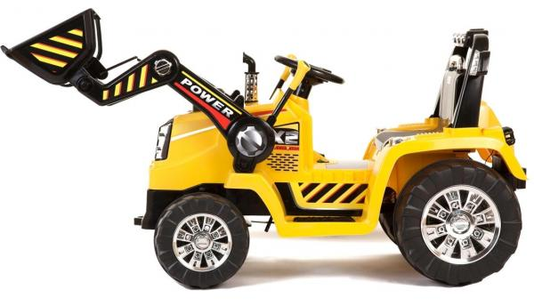 12v Kids Battery Ride on Tractor - Yellow-7681