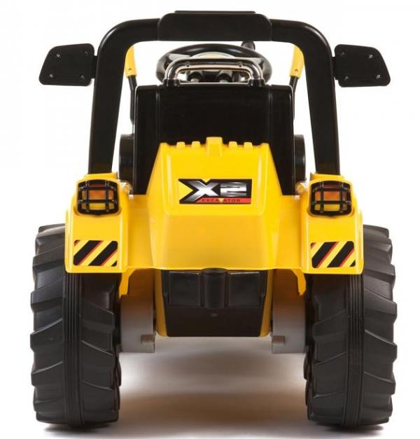 12v Kids Battery Ride on Tractor - Yellow-7679