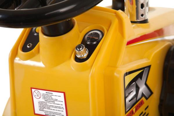 12v Kids Battery Ride on Tractor - Yellow-7684