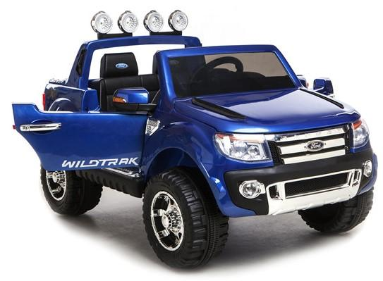 Licensed Ford Ranger Pickup 4 x 4 SUV - 12v Electric / Battery Ride on Car / Jeep Blue-8385