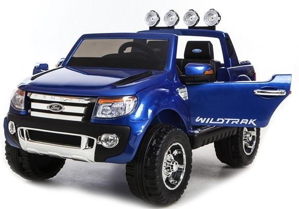 Licensed Ford Ranger Pickup 4 x 4 SUV - 12v Electric / Battery Ride on Car / Jeep Blue-0