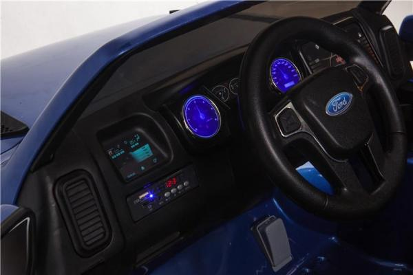 Licensed Ford Ranger Pickup 4 x 4 SUV - 12v Electric / Battery Ride on Car / Jeep Blue-8388