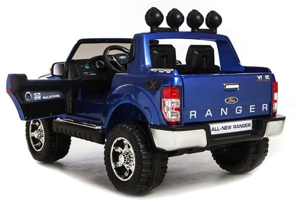 Licensed Ford Ranger Pickup 4 x 4 SUV - 12v Electric / Battery Ride on Car / Jeep Blue-8396
