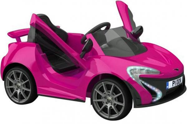Kids Rocket MC12 Deluxe Sports Coupe 12v Electric / Battery Ride on Car - Pink-0