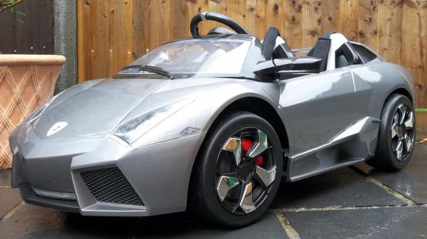 2 Seater Lamborghini Ride on Car - 12v - Grey Silver-8734