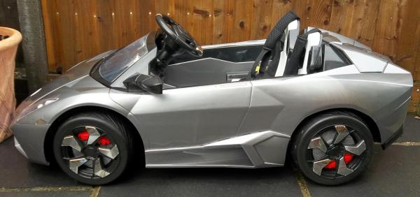 2 Seater Lamborghini Ride on Car - 12v - Grey Silver-8732