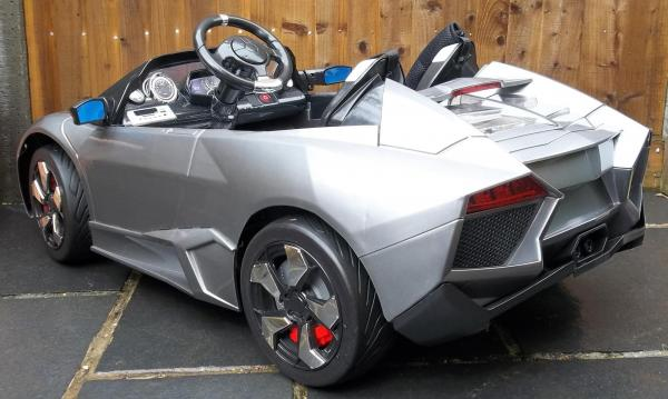 2 Seater Lamborghini Ride on Car - 12v - Grey Silver-8731