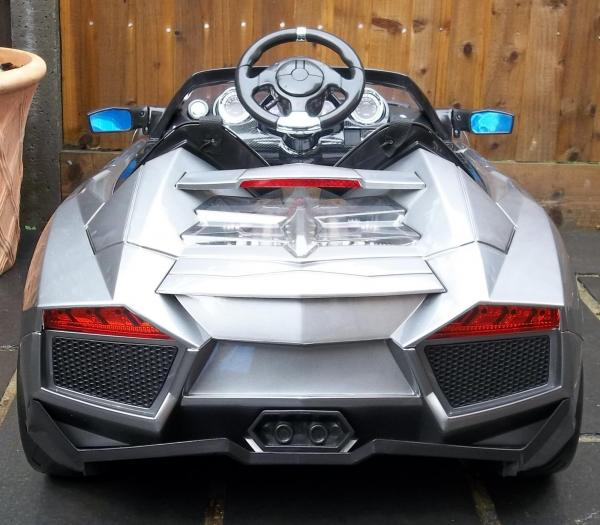 2 Seater Lamborghini Ride on Car - 12v - Grey Silver-8727